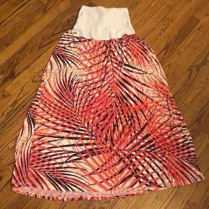 🤰Coral/White/Black Skirt MOTHERHOOD Maternity-XL